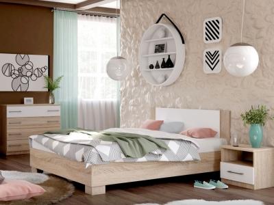 Спальня Аврора дуб сонома/белый