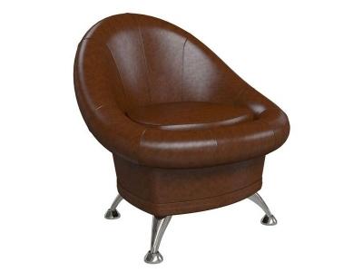 Банкетка - кресло Гранд 6-5104 Экокожа Коричневая