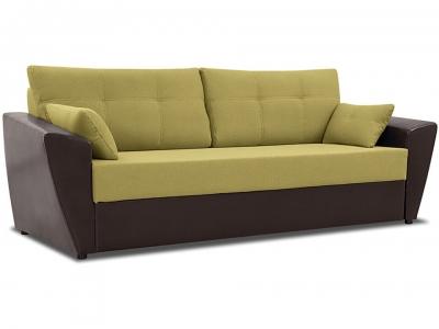 Диван Борнео Concept 05 зелёный, Neo 12 коричневый