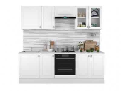 Кухонный гарнитур Ева 2400 Белый Софт
