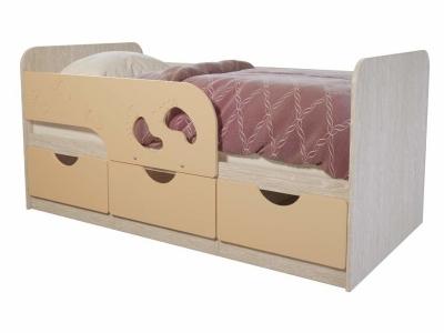 Детская кровать Минима Лего дуб атланта/крем-брюле