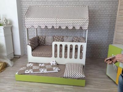 Кроватка-Домик двухъярусная выкатная