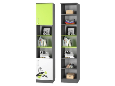 Шкаф для книг с 2-мя дверками Граффити