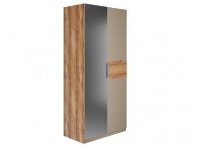 Шкаф 2 двери зеркало Рамона Р 1.0.8 Дуб кельтский/Капучино