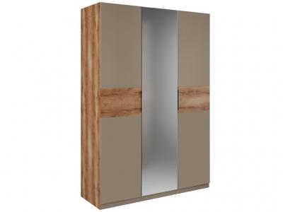 Шкаф 3 двери зеркало Рамона Р 1.0.1 Дуб кельтский/Капучино