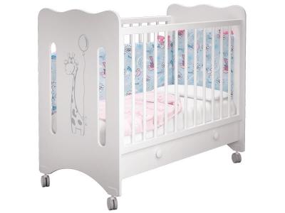 Кроватка детская Руслана 1 Жирафик с ящиком
