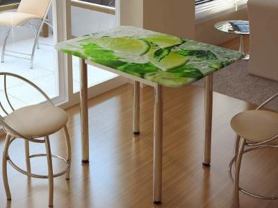 Стол обеденный с принтом лайм